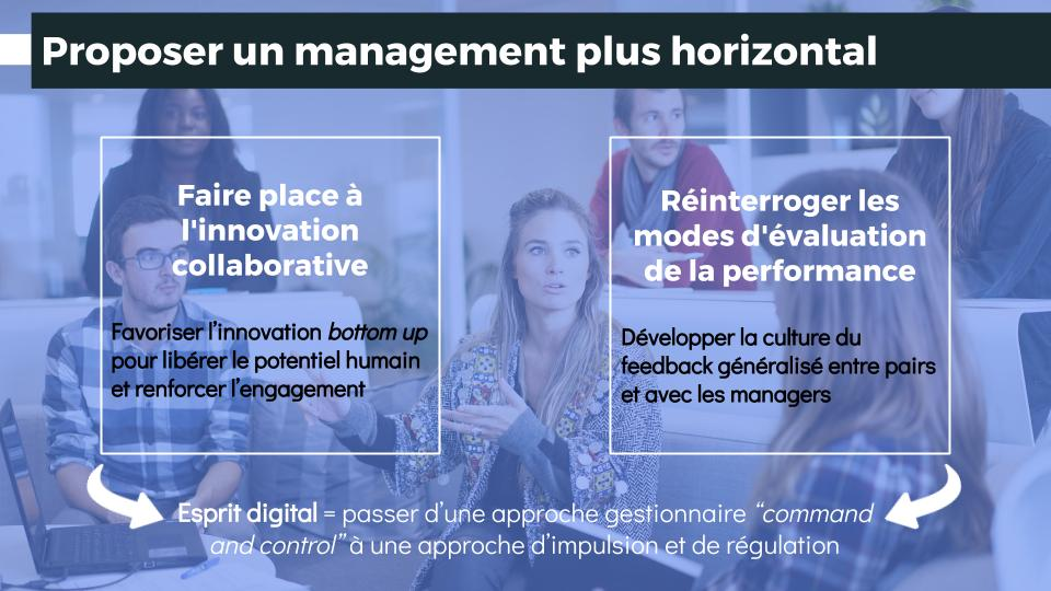 Proposer un management plus horizontal